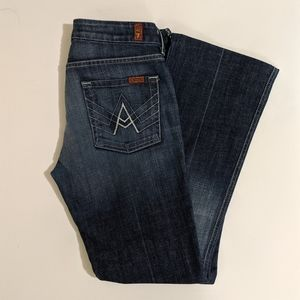 7 For All Mankind ' A ' pocket Bootleg Jeans 28